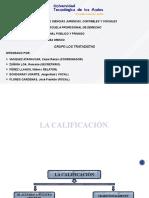 LA CALIFICACION Y LOS FACTORES DE CONEXION