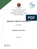 Cuadernillo Lenguaje y práctica musical II
