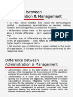 Difference adm & mgt