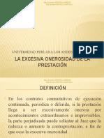 12LA EXCESIVA ONEROSIDAD DE LA PRESTACION
