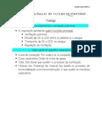 Funções Biológicas do Sistema Respiratório - Fisiologia - Aula 2