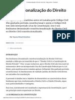 Constitucionalização do Direito Civil (Civil) - Artigo jurídico - DireitoNet