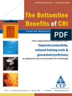 Bottomline Benefits of CRI