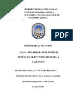 DESARROLLO DE UNIFAC EN EL ENTORNO DE EXCEL T MATCAD