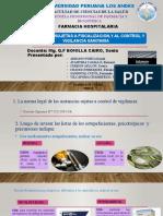 Semana 7 - Sustancias Sujetas a Fiscalización y Al Control y Vigilancia Sanitaria.