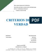 CRITERIOS DE LA VERDAD
