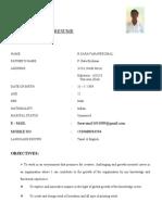 Saravanaperumal Resume