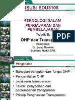 Topik 8 - OHP dan Transparensi