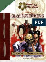 2101 Oriental Adventures - Bloodspeakers