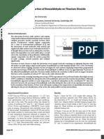 reaction of benzaldehyde on titanium oxide