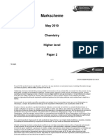 Chemistry paper 2 markscheme 2019 May