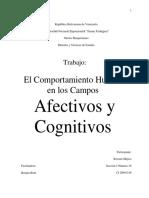 El comportamiento humano en los campos afectivos y cognitivos