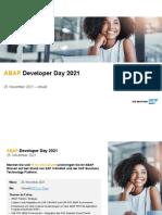 Agenda ABAPDeveloperDay 2021