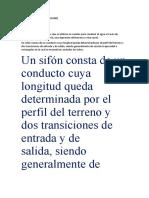 DISEÑO HIDRÁULICO DE SIFONES