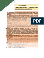 Actividad 2-21-La administración y la función  de las finanzas en las dif. organiz.