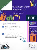 Media Pembelajaran Sistem Jaringan Dasar Asep Sunarya, S.Kom PERTEMUAN 2
