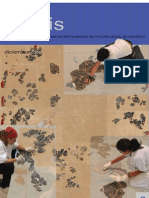 Payueta, A. Extracción pintura mural y mosaico yacimiento romano c. Agustín Zaragoza. 2004