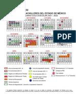 Calendario Escolar 2021-2022 COBAEM