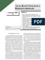 AS ORIGENS DA BASE CITOLÓGICA DA HEREDITARIEDADE