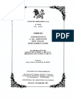 Anais Pernambucanos - Indice