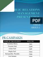final PUBLIC RELATIONS MANAGEMENT