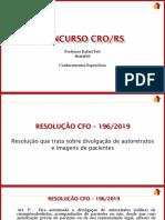RESOLUÇÂO 196-2019