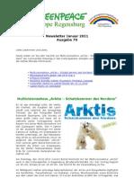 Greenpeace-Gruppe Regensburg - Newsletter 70 vom 15.01.2011