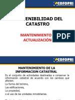 10.-Sostenibilidad Del Catastro - Mantenimiento y Actualizacion