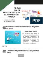 Sesión 4 - Responsabilidad Civil Del Gestor de Bases de Datos