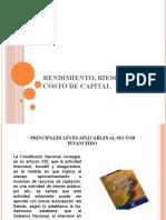 RENDIMIENTO, RIESGO Y COSTO DE CAPITAL
