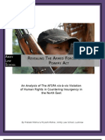 REVEALING THE ARMED FORCES SPECIAL POWERS ACT