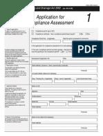 1F applicationForComplianceAssessment