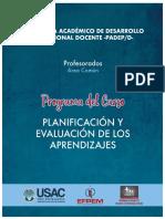 6 Programa Planificacioìn y Evaluacioìn de Los Aprendizajes