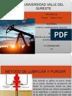 METODO DE LUBRICAR Y PURGAR