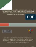 Aspectos epidemiológicos, hematológicos e imunofenotípicos de pacientes portadores de leucemia aguda diagnosticados no Hospital Regional de Mato Grosso do Sul