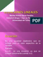 Ecuaciones Lineales Presentacion