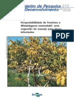 Manejo de fruteiras em áreas infestadas