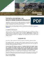 NOVENA DO BEATO PIER GIORGIO FRASSATI2020