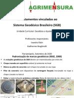 Geodésia e Ajustamento - Levantamentos Para o SGB