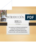 INTRODUCCIÓN A LA BIBLIA clase 1