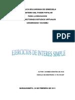 EJERCICIOS SOBRE INTERÉS SIMPLE