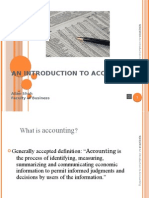 AN INTRODUCTION TO ACCOUNTING