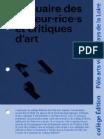 Annuaire Edition Critique Art 2021