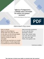 Apresentação - Agência e Protagonismo