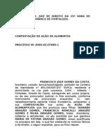 CONTESTAÇAO DE AÇÃO DE ALIMENTOS-CABO CLAUDIO