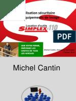 Utilisation Sécuritaire Des Équipements de Levage Michel Cantin Simplex