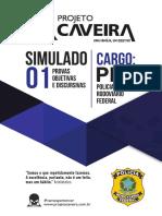 01 - Simulado - Cargo PRF - Projeto Caveira