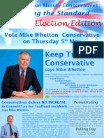 2011 AoM Election Leaflet 2 Sides