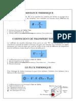 calcul de coefficien de transmission de chaleur