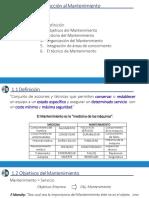 Cap 1.1 - Introducción al mantenimiento